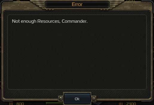 Not Enough Resources Error