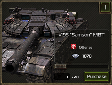 "v195 ""Samson"" MBT as seen in the Black Market"