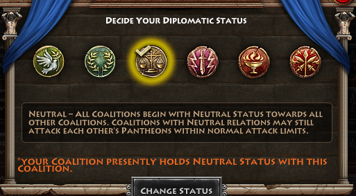 Diplomatic Status Selection