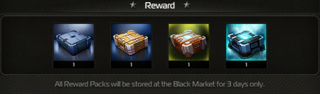 CC Reward 3 days